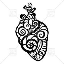 ornamental anatomical heart vector clipart image 51468 u2013 rfclipart