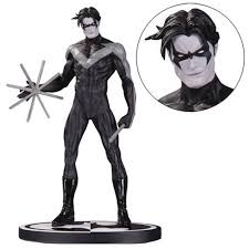 dc collectibles batman nightwing by jim lee black and white statue