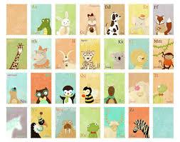 Abc Nursery Decor Animal Alphabet Large Print Children S Wall Print Animal