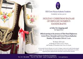 their royal highnesses are opening the christmas charity women