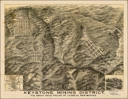 Keystone Map Keystone Mining District The Great Gold Fields Of La Belle New