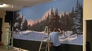 paint with kevin hill winter glow mural youtube