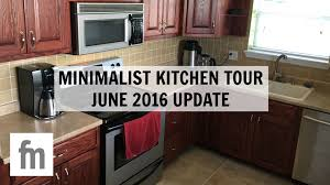 minimalist kitchen tour june 2016 update family minimalism