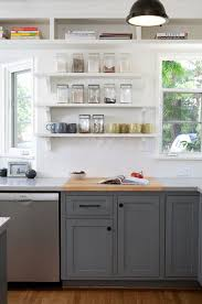 Kitchen Cabine Kitchen Cabinet And Open Shelves Ideas Lower - Glass shelves for kitchen cabinets