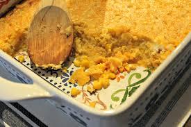 spiked thanksgiving bourbon corn pudding