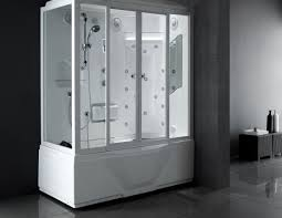 large white fiberglass tubs mixed black ceramic floor as well f shower intriguing luxury tub shower units awe inspiring