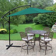 Cast Aluminum Patio Furniture Clearance by Darlee Ocean View Aluminum 5 Piece Round Bar Height Patio Dining