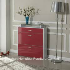 high cabinet with drawers china modern 3 drawers high gloss shoe cabinet with glass top
