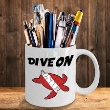 Dive Flag Australia Scuba Diving Turtle Mug Awesome Coffee Mug For Scuba Divers Dive