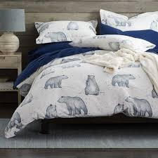 snow bear 5 oz flannel duvet cover the company store