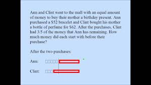 fraction word problem singapore math youtube