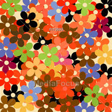 retro wrapping paper retro decorative floral pattern wrapping paper design stock