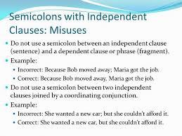 semicolon use example semicolon colon run on sentences ppt video