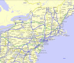 Maine Road Map Northeastern States Road Map Northeastern States Mapquiz Printout