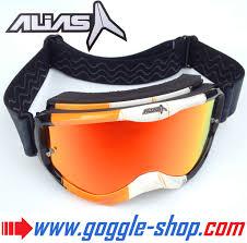 mirrored motocross goggles alias motocross goggles riot orange white