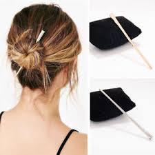 hair fork vintage women hair pin stick metal gold silver hair fork