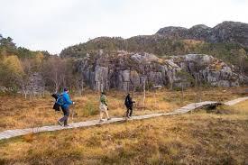 outdoor life preikestolen autumn hike