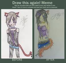 Meme And Neko - before and after meme emo neko girl by lilykilpatrickart on