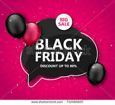 black friday sale shopping poster seasonal stock vector 732585607
