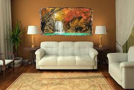 startonight 3d mural wall art photo decor waterfall in the forest startonight 3d mural wall art photo decor waterfall in the forest amazing dual view surprise large wall mural wallpaper for living room or bedroom landscape