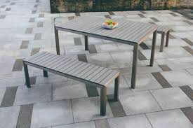 Resin Wood Outdoor Furniture by Lane 3 Piece Poly Resin Wood Bench Dining Set Hl Ln Al Bds Patio