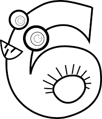 best photos of number 6 outline number 6 coloring pages