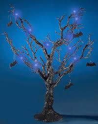 black tree with purple lights gift