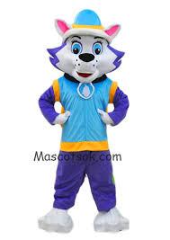 female husky dog everest mascot costume paw patrol snowy mountain