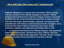prepared by qais ahmad labor day this is celebrated on
