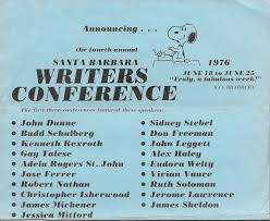 the history of the santa barbara writers conference u2014 1976 the