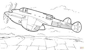 pe 2 bomber coloring page free printable coloring pages