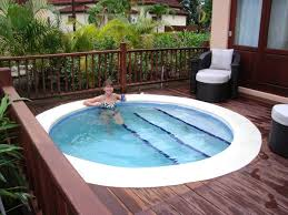 astonishing picture of round above ground deck pool including