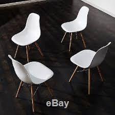 lot 4 chaises blanches lot de 4 chaise eiffel design blanche meubles moderne tout neuf