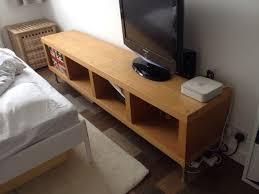Ikea Low Bookshelf Ikea Low Sideboard Storage Bookshelf Expedit Kallax Oak Finish 40