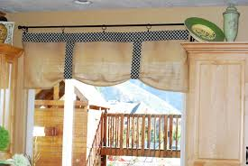 No Curtains Creative Fridays Burlap No Sew Kitchen Curtains My Blog