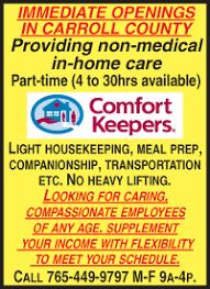 Comfort Keepers Schedule Www Carrollcountycomet Com Carroll County Comet