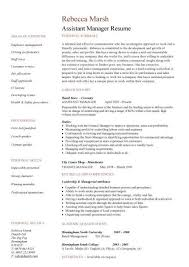 assistant manager resume retail assistant manager resume description exle covering