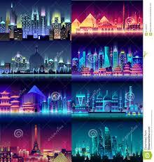 brazil russian france japan india egypt china usa city night