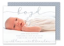 birth announcement boyd horizontal birth announcement gilm press