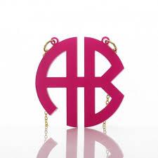 monogram necklace acrylic acrylic circle block monogram necklace personalizedperfectly