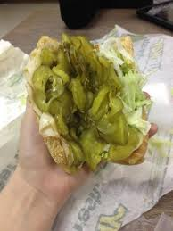 Subway Sandwich Meme - so i asked for extra pickles today at subway imgur