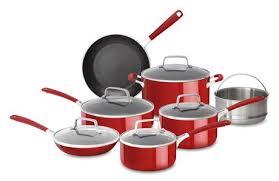 batterie de cuisine en batterie de cuisine en aluminium de kitchenaid revêtement