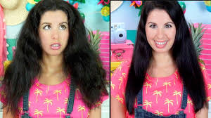 why is my hair curly in front and straight in back how to get straight hair using no heat works on curly frizzy or