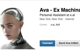 Ex Machina by The Robot From Ex Machina Is Now A Personal Assistant On Linkedin