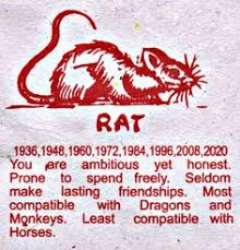 zodiac placemat the astrology horoscope signs the rat