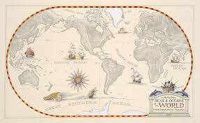 World Map Of Seas by The Seas And Oceans Of The World William Gilkerson