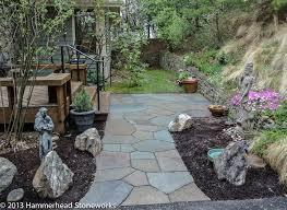 Backyard Flagstone Flagstone Patios And Pathways Hammerhead Stoneworkshammerhead