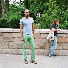 why are so many men wearing green pants in 2013