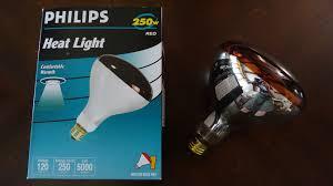 philips 250watt red heat lamp light bulb youtube
