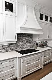 backsplash for black and white kitchen mosaic glass tile backsplash with metal in it white and gray